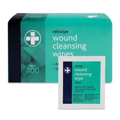 Wound Cleansing Wipes (Pack of 100)