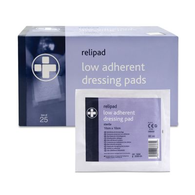 Low Adherent Pad Dressing - 10 x 10cm (Pack of 25)