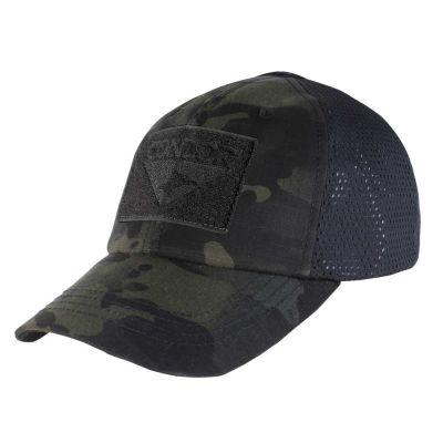 Condor MultiCam Mesh Tactical Cap (Black)