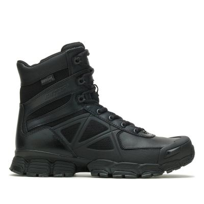 Bates Velocitor 8in WP Side Zip Boots (Black)
