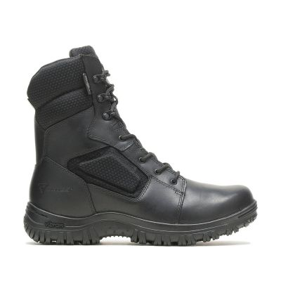 Bates Maneuver 8in WP Side Zip Boots (Black)