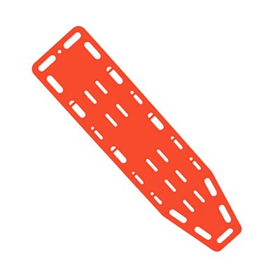 Economy Spineboard with Pins (Orange)